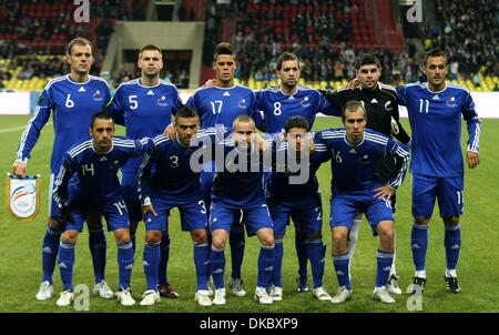 Oct 11, 2011 - Moscow, Russia - Andorra football national team during the UEFA Euro 2012 Qualifying Russia vs Andorra - Stock Photo