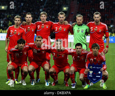 Oct 11, 2011 - Moscow, Russia - Russia soccer national team during the UEFA Euro 2012 Qualifying Russia vs Andorra - Stock Photo