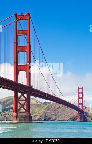 San Francisco Golden Gate Bridge day linking Marin County with the City of San Francisco California USA - Stock Photo