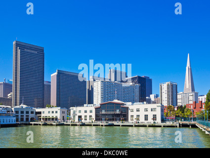 San Francisco city waterfront skyline Financial district and Transamerica Pyramid California, United States of America, - Stock Photo