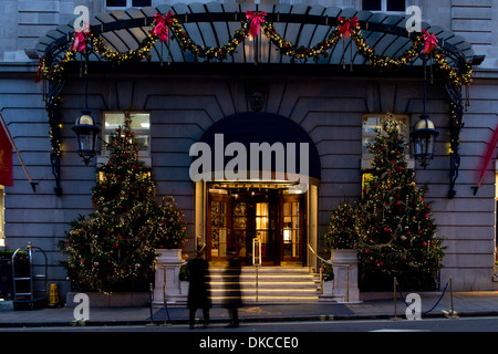 The Ritz Hotel Christmas Lights, London - Stock Photo