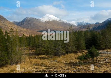 Ladhar Bheinn and upper Glen Guiserein, Knoydart Peninsula, Highland Region, Scotland, UK - Stock Photo