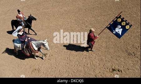 Oct. 23, 2011 - Poway, California, USA -  A procession enters the jousting arena at the Fifth Annual Tournament - Stock Photo
