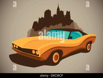 Retro car - Stock Photo