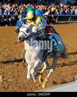 Nov. 5, 2011 - Louisville, KY, USA - Hansen, 5, with Ramon Dominguez  up won the Breeders juvenile  during the 2011 - Stock Photo