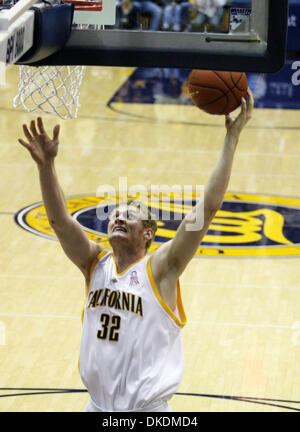 Mar 01, 2007 - BERKELEY, CA, USA - Cal's TAYLOR HARRISON  delivers two  against Arizona during the first half at - Stock Photo