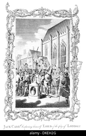 Jack Cade declaring himself Lord of the City of London - Stock Photo