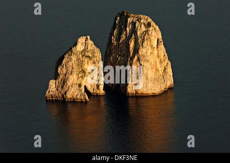 Faraglioni Rocks and Marina Piccola, Capri, Campania,Italy, Europe - Stock Photo