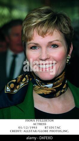 Dec. 1, 1993 - FIONA FULLERTON.ACTRESS.01/12/1993.B71D17AC.CREDIT: ALLSTAR/(Credit Image: © Globe Photos/ZUMAPRESS.com) - Stock Photo