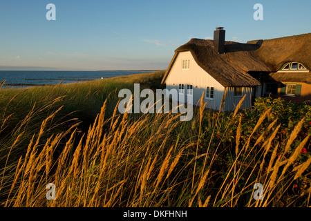 House on the Baltic Sea, Ahrenshoop resort, Mecklenburg-Vorpommern, Germany - Stock Photo