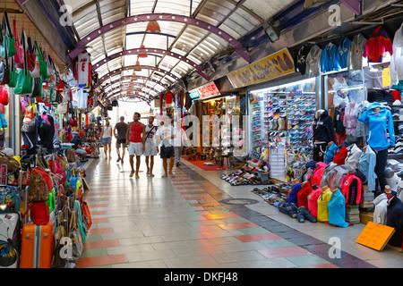 Covered bazaar in the historic centre of Marmaris, Muğla Province, Aegean, Turkey - Stock Photo