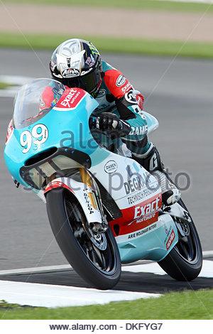 Danny Webb, GBR Degraaf Grand prix 125cc..British Moto GP Qualifying..British Moto GP Qualifying..25th July, 2009.(Credit - Stock Photo