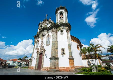 Church Sao Francisco de Assis in Sao Joao del Rei, Minas Gerais, Brazil, South America Stock Photo