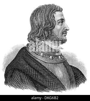 Portait of Pierre Terrail, seigneur de Bayard, 1473 - 1524, a French soldier, generally known as the Chevalier de - Stock Photo