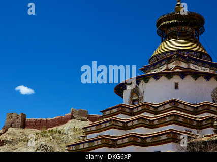 The Kumbum chorten (Stupa) in the Palcho Monastery at Gyantse, Tibet, China, Asia - Stock Photo