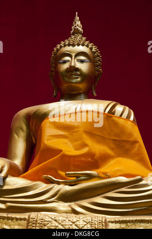Buddha statue in temple Wat Buppharam, Chiang Mai, Thailand, Asia - Stock Photo