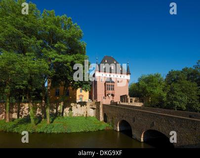 Burgau Castle, Dueren, North Rhine-Westphalia, Germany, Europe - Stock Photo