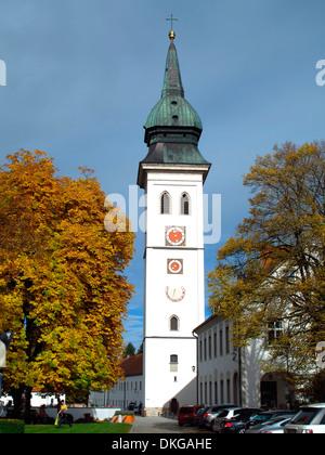 pfarrkirche mariä geburt, rottenbuch, weilheim-schongau district, upper bavaria, bavaria, germany - Stock Photo