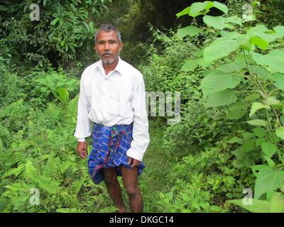 Waldmann Jadav Payeng vom Stamm der Mising, aufgenommen am 27.10.2013 im Bezirk Jorhat im Bundesstaat Assam in Indien. - Stock Photo