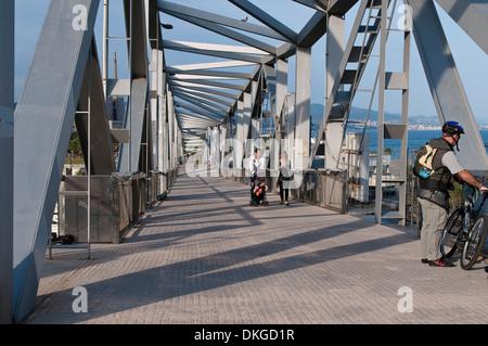 Bridge, Parc del Forum, Barcelona, Catalonia, Spain