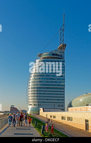 Atlantic Hotel Sail City, Klimahaus and Conference Center, Bremerhaven, Germany, Europe - Stock Photo