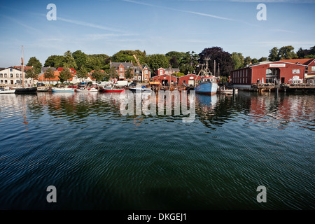 Harbor of Eckernfoerde at the Baltic Sea, Schleswig-Holstein, Germany - Stock Photo