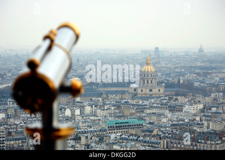View from Tour Eiffel, Paris, France - Stock Photo