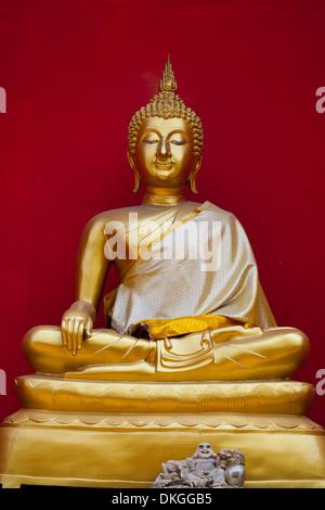 Buddha statue in Wat Buppharam, Chiang Maim, Thailand, Asia - Stock Photo