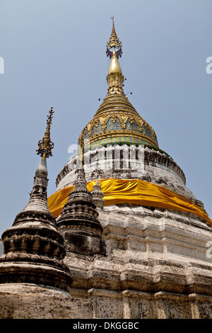 Chedi of the Wat Buppharam, Chiang Maim, Thailand, Asia - Stock Photo