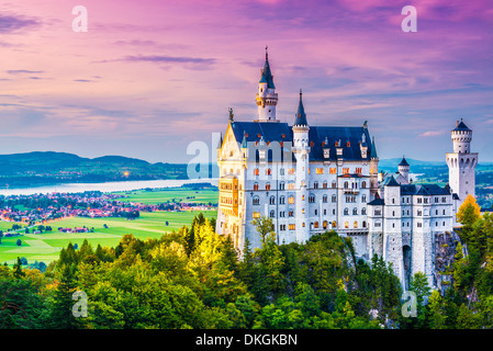 Neuschwanstein Castle in Germany. - Stock Photo