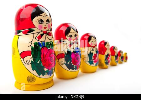 Russian Dolls. - Stock Photo