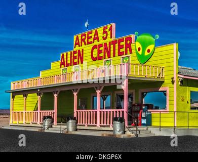 Area 51 Alien Center truck stop and brothel  Amargosa Valley Nevada. - Stock Photo