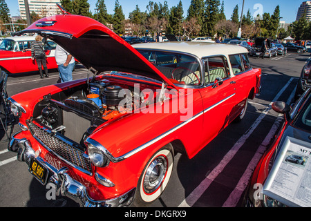 A 1955 chevy nomad station wagon at the motor4toys event for Woodland motors used cars