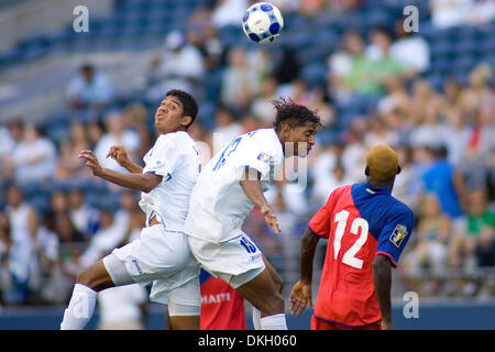 July 04, 2009 - Seattle, Washington, United States - 04 July 2009: Melvin Valladares (18) and Carlos Costly (13) - Stock Photo