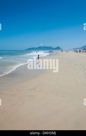 Campeche Beach on Ilha Catarina (Santa Catarina Island), Santa Catarina State, Brazil, South America - Stock Photo