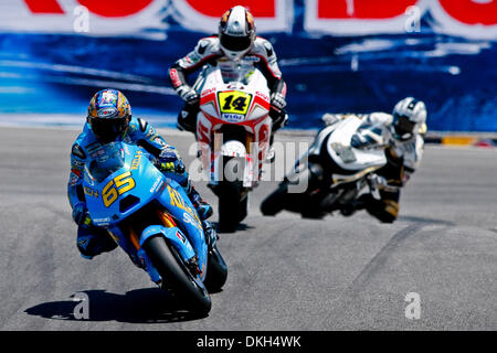 July 03, 2009 - Monterey, California, USA - 03 July 2009: Loris Capirossi, of Italy, rided the #65 motorcycle for - Stock Photo