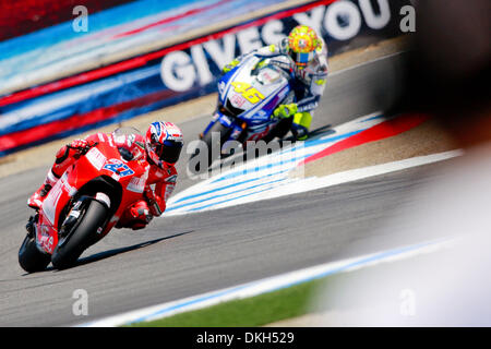 July 04, 2009 - Monterey, California, U.S - 04 July 2009: Casey Stoner, of Australia, rides the #27 motorcycle for - Stock Photo