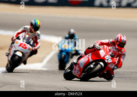 July 04, 2009 - Monterey, California, U.S - 04 July 2009:Nicky Hayden, of USA, rides the #69 motorcycle for the - Stock Photo
