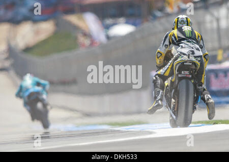 July 04, 2009 - Monterey, California, U.S - 04 July 2009: James Toseland, of Great Britain, rides the #52 motorcycle - Stock Photo
