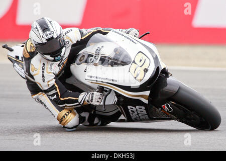 July 04, 2009 - Monterey, California, U.S - 04 July 2009: Sete Gibernau, of Spain, rides the #59 Ducati motorcycle - Stock Photo
