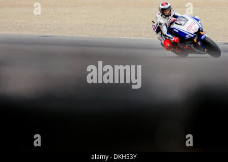 July 04, 2009 - Monterey, California, U.S - 04 July 2009: Jorge Lorenzo, of Spain, rides the #99 motorcycle for - Stock Photo