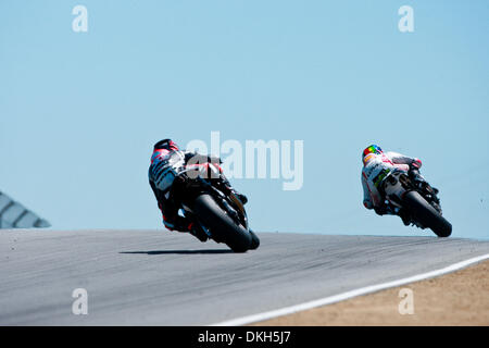July 05, 2009 - Monterey, CA, USA - 05 July 2009: Marco Melandri, of Italy, rides the #33 Kawasaki motorcycle for - Stock Photo
