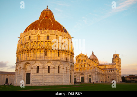 Campo dei Miracoli the field of miracles Pisa city Tuscany region Italy Europe - Stock Photo