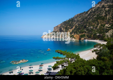 Apella Beach, Karpathos, Dodecanese, Greek Islands, Greece, Europe - Stock Photo