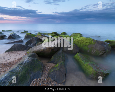A beautiful sky on a summer evening at Caister 0n Sea, Norfolk, England, United Kingdom, Europe - Stock Photo