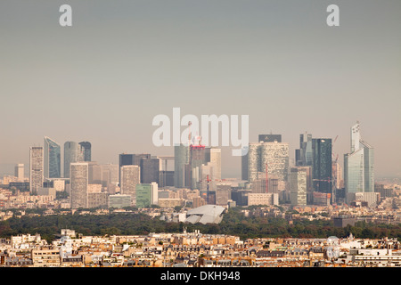 Skyscrapers in the La Defense district of Paris, France, Europe - Stock Photo