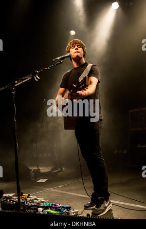 Milan Italy. 04th December 2013. The English indie-rock songwriter JAKE BUGG performs live at the music club Alcatraz - Stock Photo