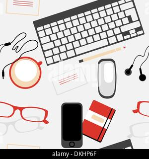 vector  seamless pattern with web designer tools - Stock Photo