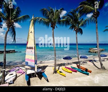 Sandy Lane Beach, Saint James, Barbados, Caribbean - Stock Photo