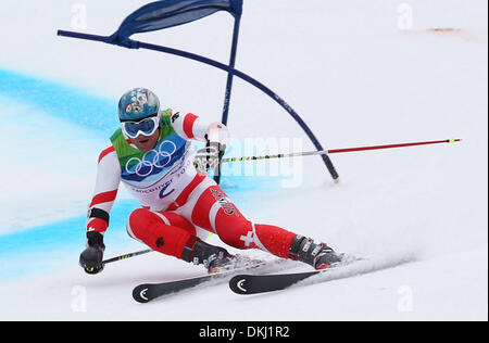 Feb. 24, 2010 - Whistler, British Columbia, Canada - DIDIER CUCHE (SUI) competes in Men's Giant Slalom at the Vancouver - Stock Photo